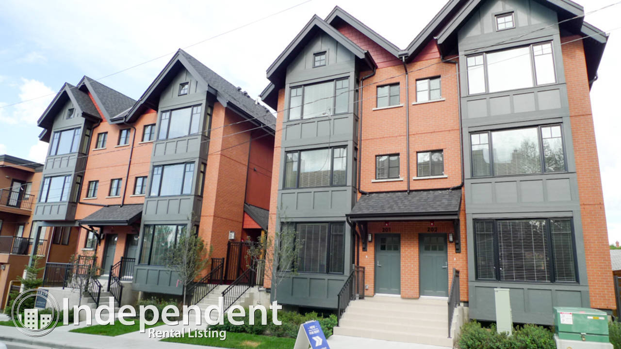 3 Br Underground Parking Townhouse in Bankview