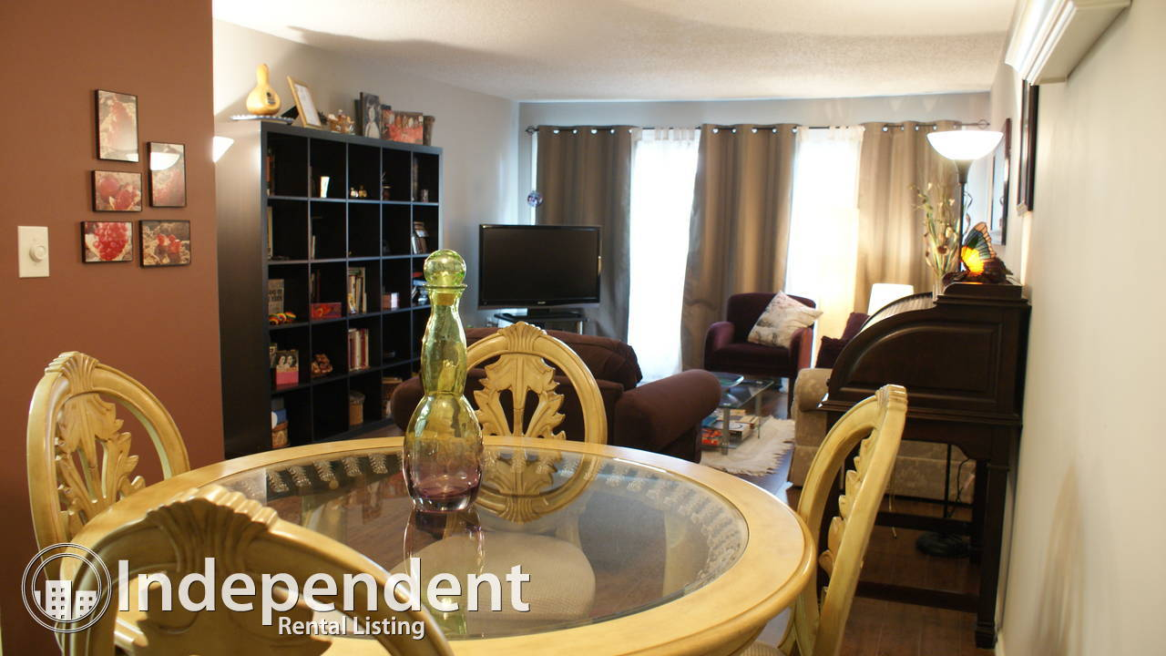 1 bedroom with walkout patio and pool