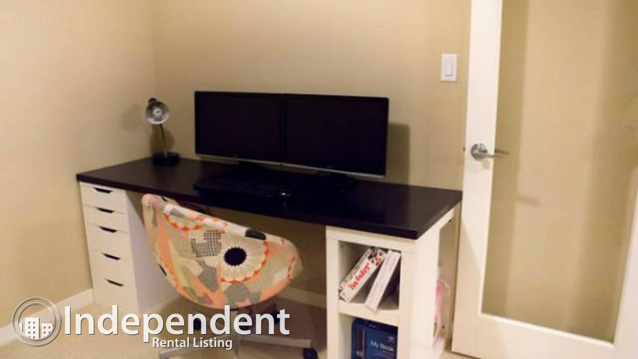 Fully furnished condo 1 bedroom 1 den downtown 1 block C-train