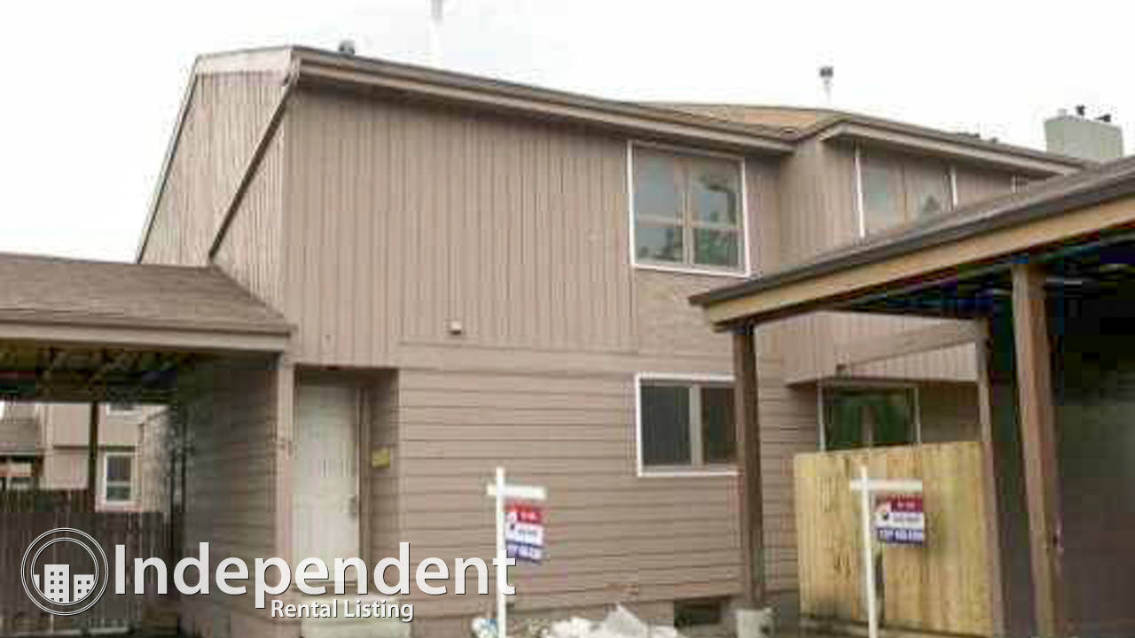3 Bedroom Townhouse for Rent in St. Albert: Pet Negotiable
