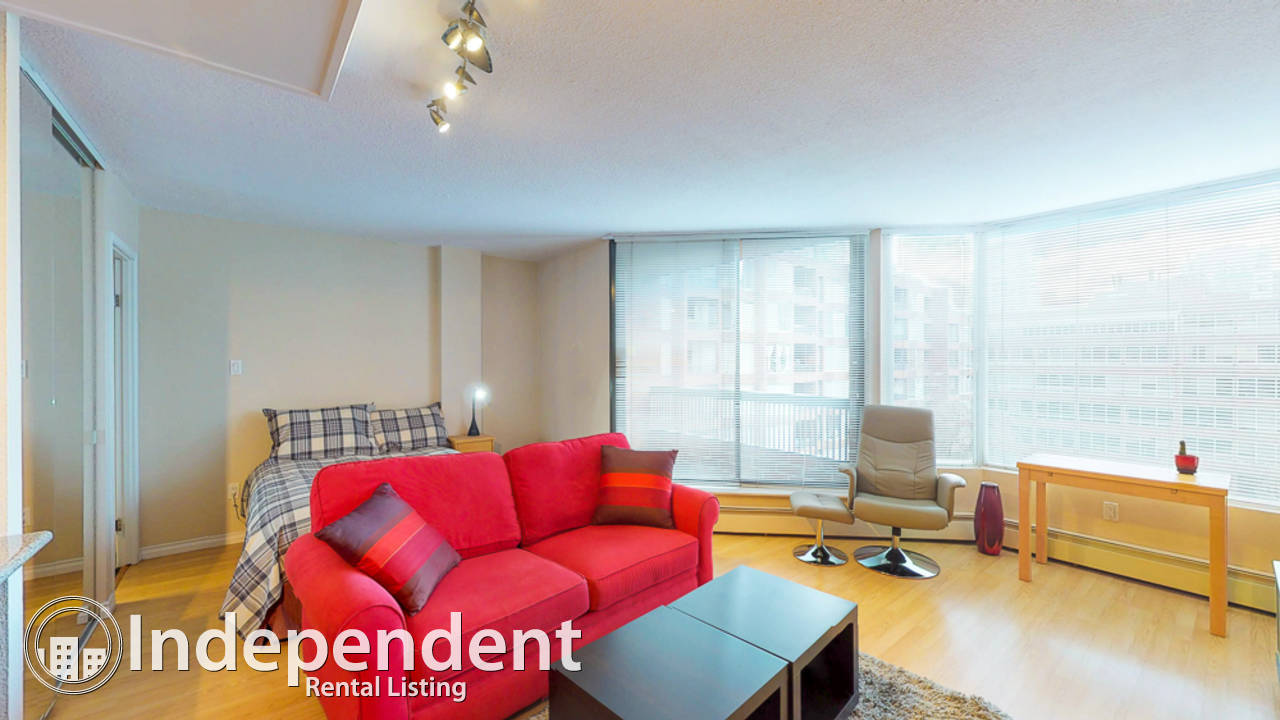 Furnished Studio Condo for Rent in Downtown Vancouver: Utilities Included