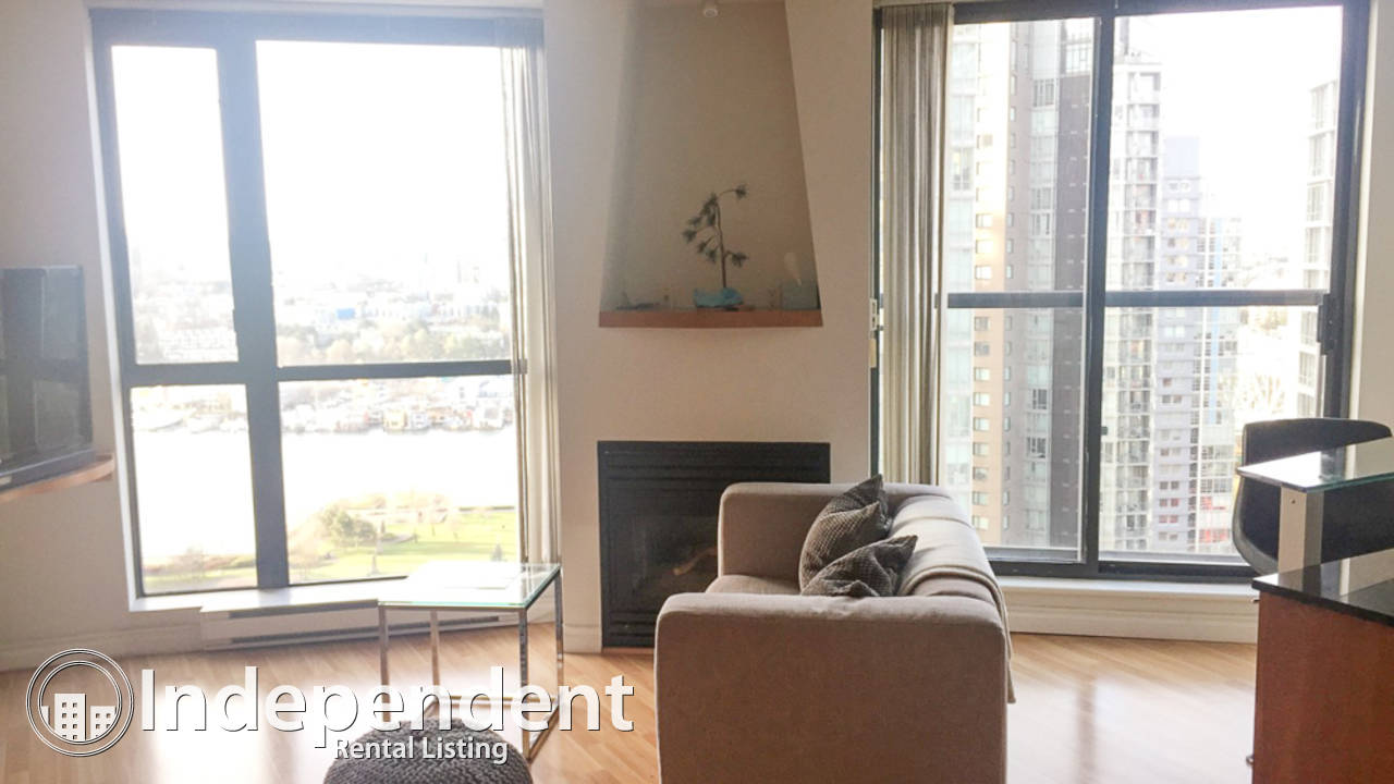 Furnished Studio Condo for Rent in Yaletown: Pet Friendly