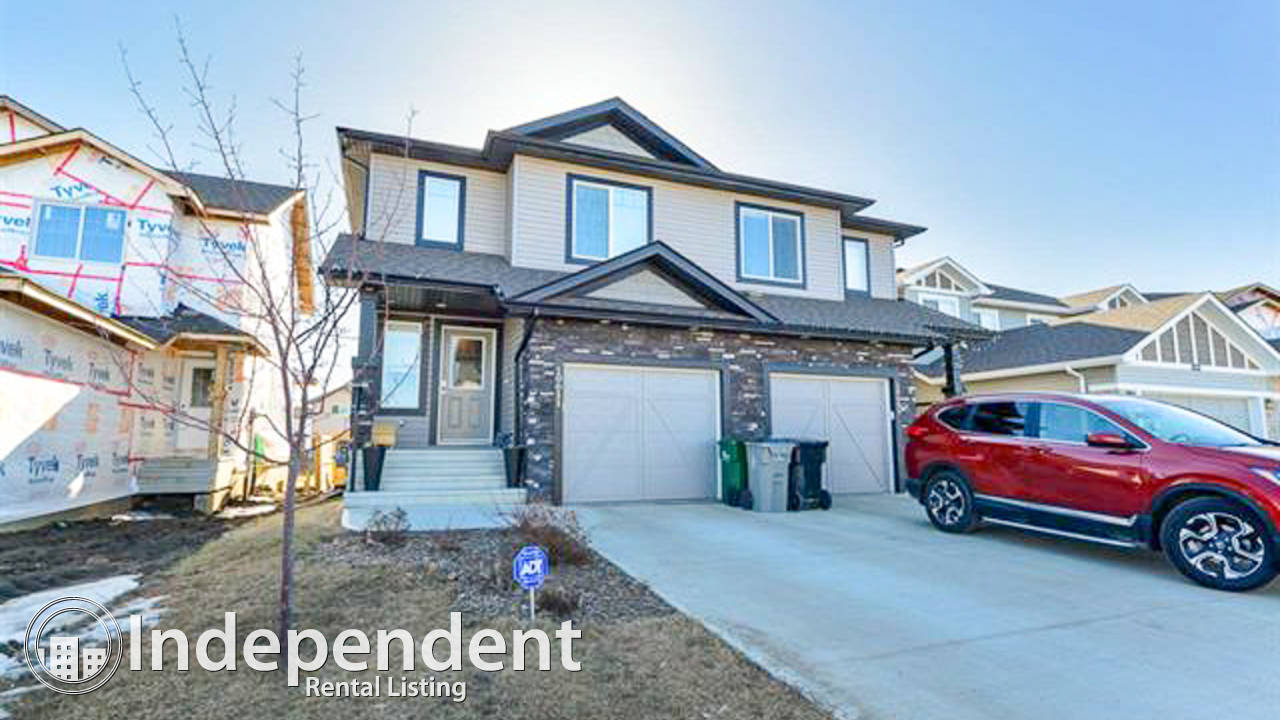 4 Bedroom Duplex for Rent in Morinville: Pet Negotiable