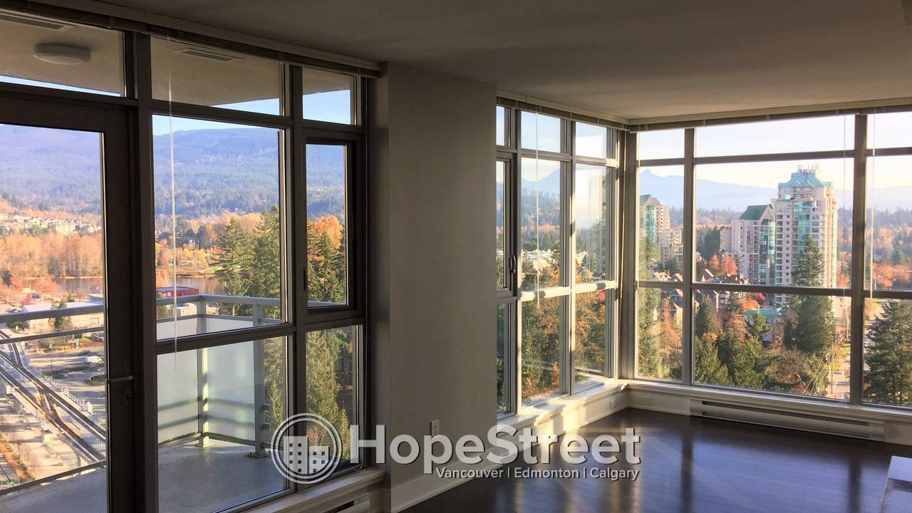2 Bedroom Beautiful Corner Unit for Rent in Coquitlam: Utilities included