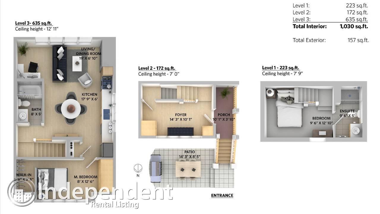 2 Bedroom + Den House for Rent in Kitsilano