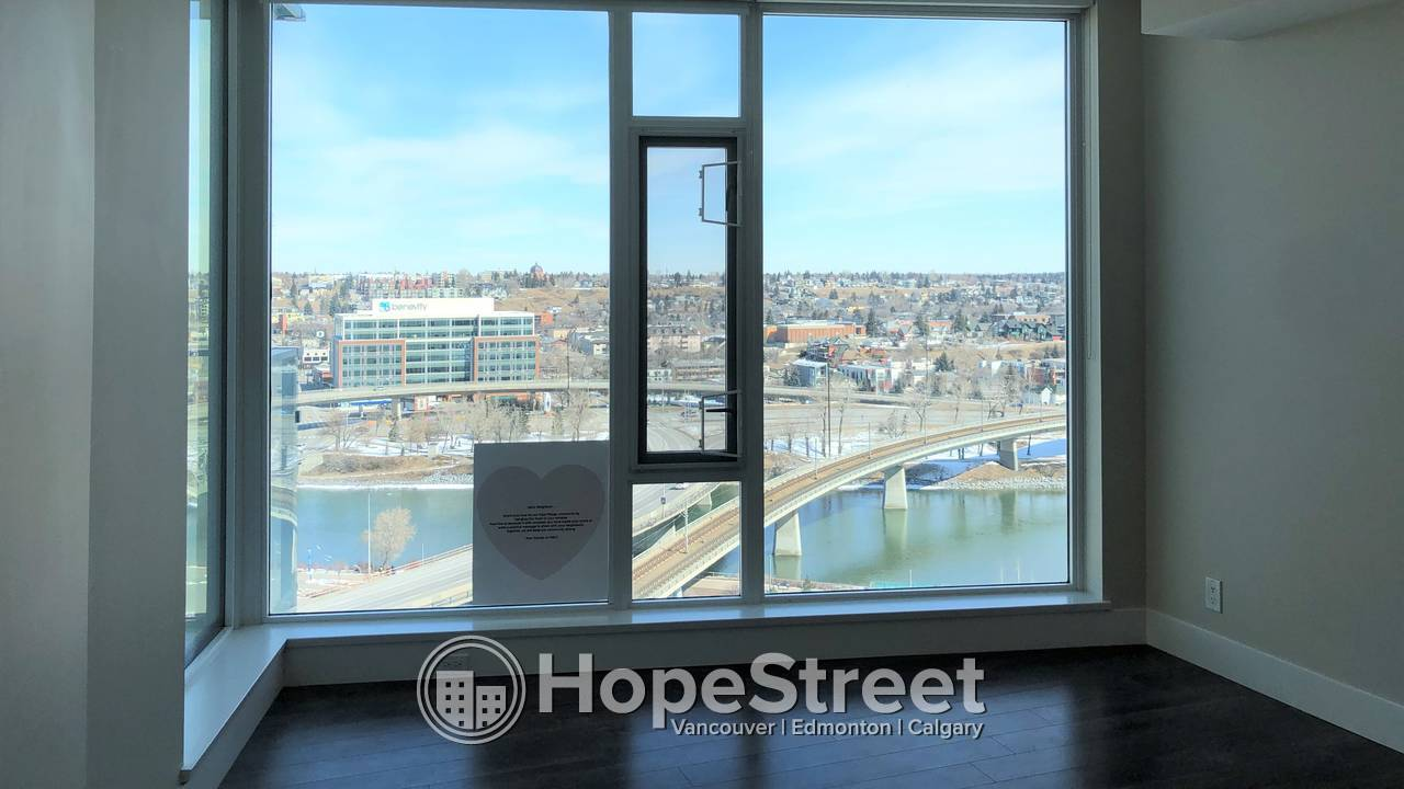 2 Bedroom Condo For Rent in East Village: Heat & Water Included/TWO PARKING STALLS.