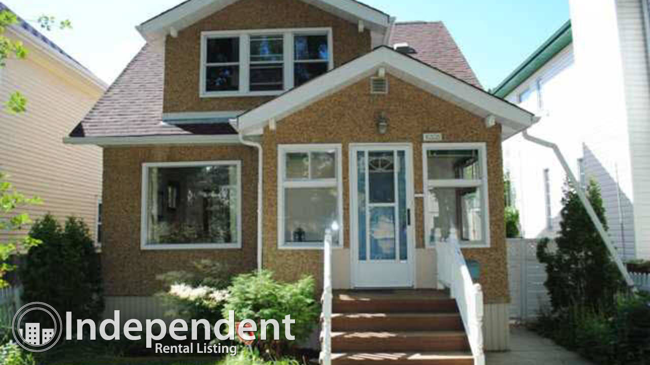 4 Bd Spacious & BRIGHT House in Garneau: Pets Negotiable