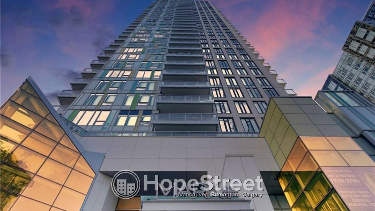 PARTIALLY FURNISHED 2 BR Apt. in the Heart of the CITY w/UNDGR PARKING