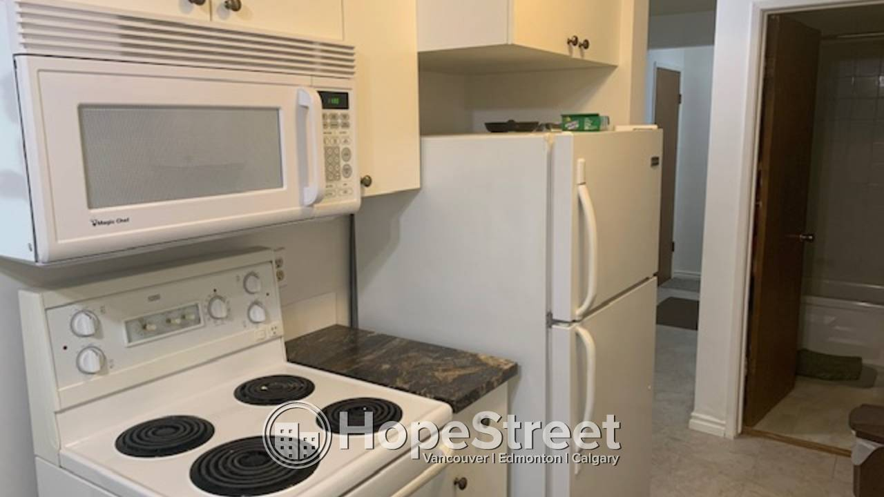 1 BR Corner Unit with balcony, in excellent area of Oliver/ Heat & Water Included!