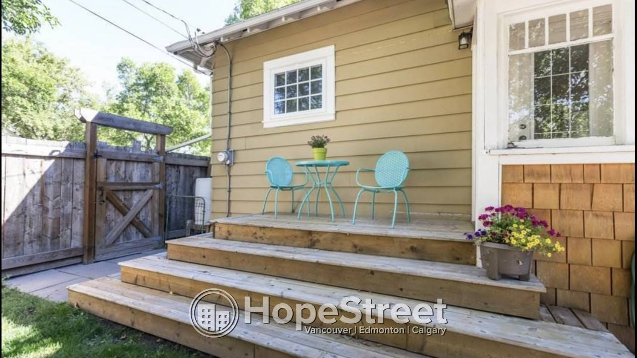 2 Bedroom Charming House for Rent in Alberta Avenue!